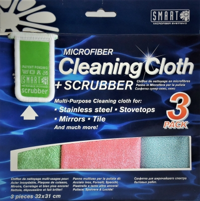 3-pack Cleaning Cloth with Smart scrubber